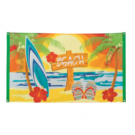 Bandera poliéster beach