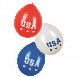 Globos usa 3 colores 6 pcs.
