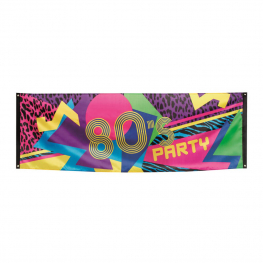 Pancarta 80´s party