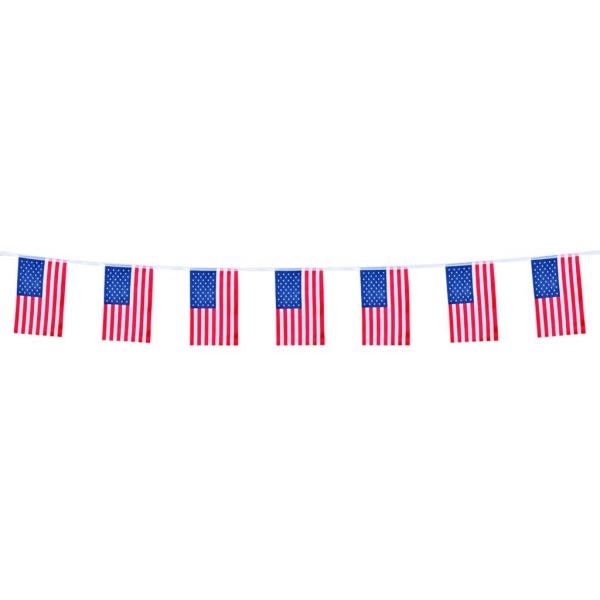 Tira bandera USA 12 banderas