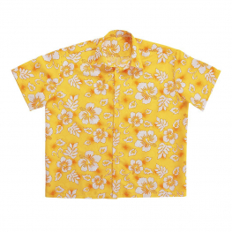 Camisa hawaiana amarilla T-ML