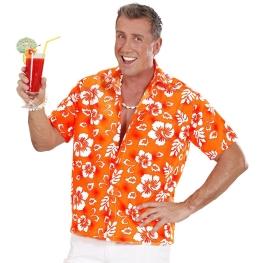 Camisa hawaiana naranja T-ML