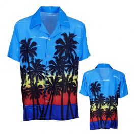 Camisa hawaiana palm beach T-ML