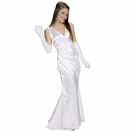 Vestido de gala blanco T-M