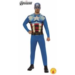 Disfraz de capitán américa para Hombre Talla ML