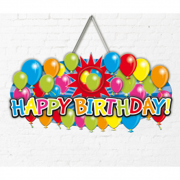Cartel happy birthday 27x52x cm