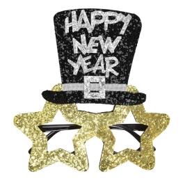 Gafas feliz año nuevo oro