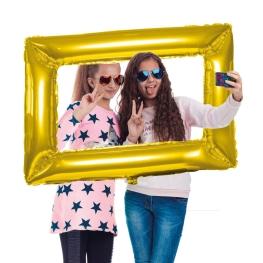 Globo marco selfie oro 85x60cm