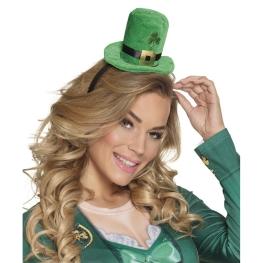 Sombrero tiara trébol verde