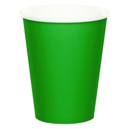Vaso verde cartón 266ml 8 unidades