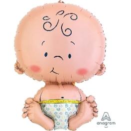 Globo c/helio bienvenido bebe