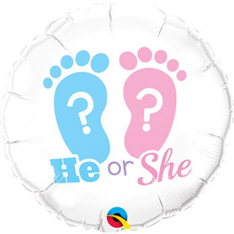 Globo  con helio ¿Niño o Niña? de 45 cm