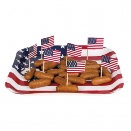 Bandera picks USA 7cm 24 unidades
