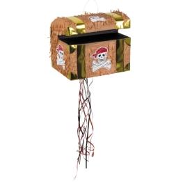 Piñata cofre del tesoro 30x26cm