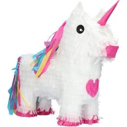 Piñata unicornio blanco 47x39cm