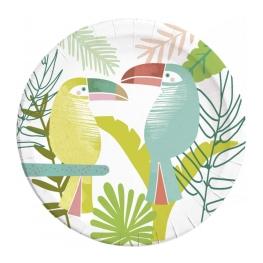 Plato toucan 23cm 8 udes
