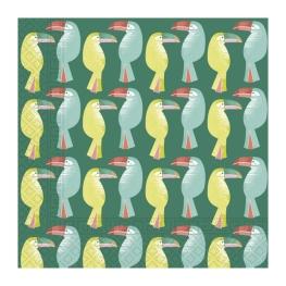 Servilleta toucan 33x33cm 20 udes