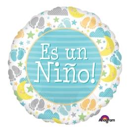 Globo C/Helio Es Niño 45Cm