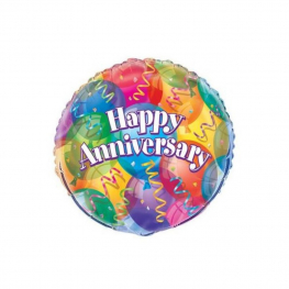 Globo Happy Anniversary C/Helio 45Cm