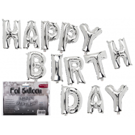 Letrero Globo Happy Birthday Letra 40Cm