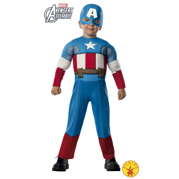 Disfraz Capitán América talla 1-2 años