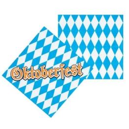 Servilleta Oktoberfest 33X33Cm 12 unidades