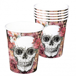Vaso day of the dead 6 unidades (25 cl)