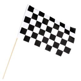 Bandera racing con palo poliéster