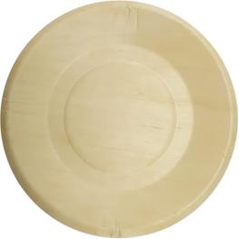 Plato madera 19cm 4 unidades