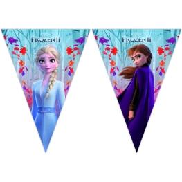 Tira de bandera Frozen 2 (9 banderines)