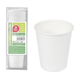 Vaso blanco cartón 200cc 25 unidades