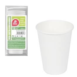 Vaso blanco cartón 330cc 12 unidades
