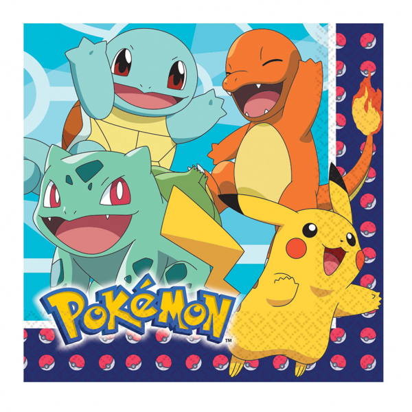 Servilleta Pokemon 33X33 Cm. 16 Udes.