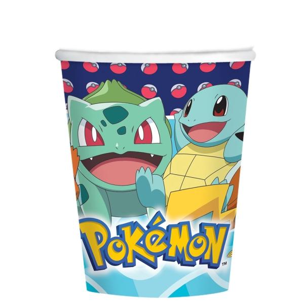 Vaso Pokemon 250 Ml. 8 Udes.