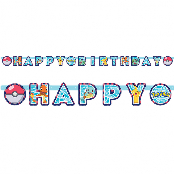Banner Happy Birthday Pokemon