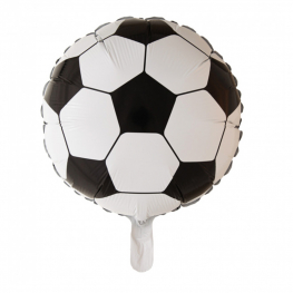 Globo pelota fútbol con helio 45cm