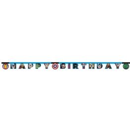 Guirnalda Feliz Cumpleaños Vengadores 2,10 M.