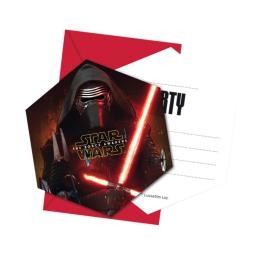 Pack 6 Invitaciones-Sobres Star Wars Epis.Viii