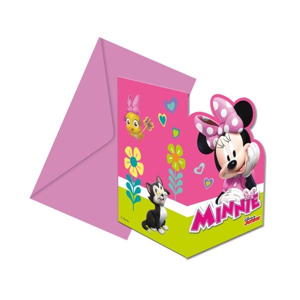Invitaciones Minnie 6Udes
