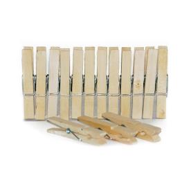 Paquete de pinzas de madera de 24 unidades