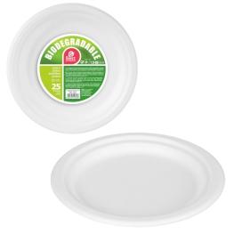 Plato Biodegradable Grande 22 X 1,90 Cm Bolsa 25 U