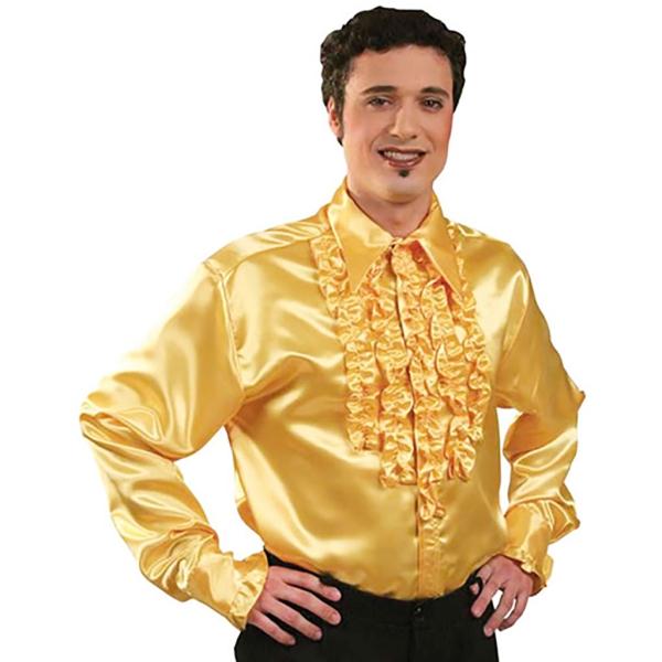 Camisa Rock & Roll Amarilla para Hombre Tall XL