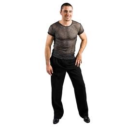 Camiseta chico rejilla negro manga corta