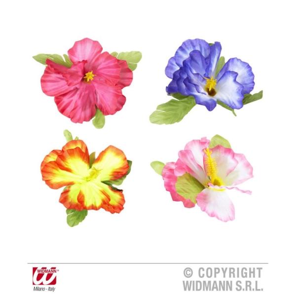 Flor Hawaiana para cabello 2 flores con clip