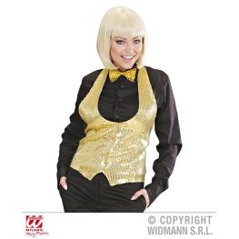 Chaleco señora lentejuelas oro Talla ML para mujer