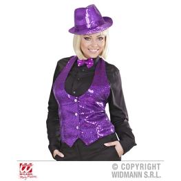 Chaleco señora lentejuelas violeta Talla ML para mujer