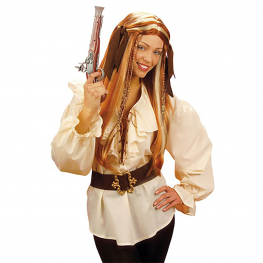 Camisa pirata señora beig Talla M para mujer