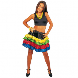 Falda tropical mini