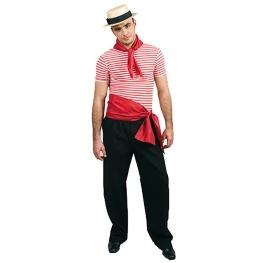 Camiseta marinera Rojo