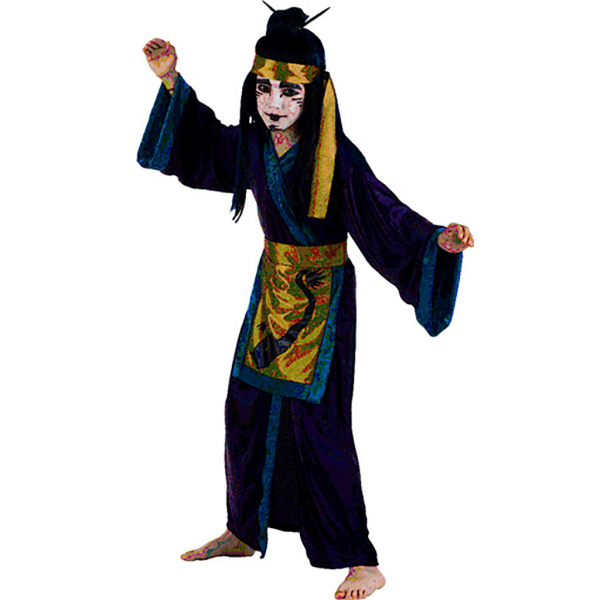Disfraz de Samuray Dragón 5 a 6 años para niño